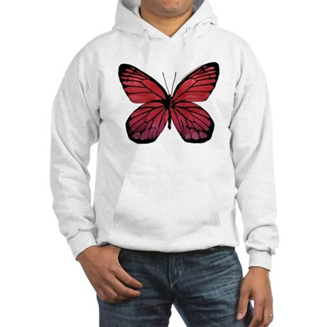 Red Butterfly Picture Hooded Sweatshirt