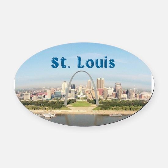 St. Louis Oval Car Magnet