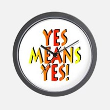 Yes Means Yes! Wall Clock