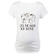 25th Anniversary chalk couple Shirt