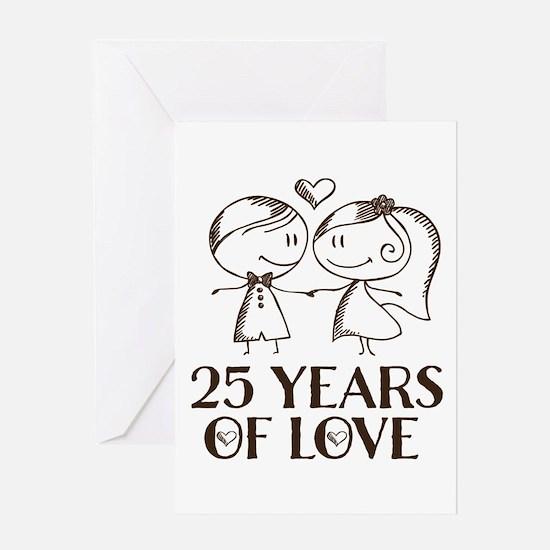 25th Anniversary chalk couple Greeting Card