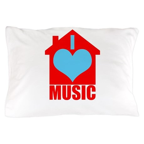 I Love House Music House Silhoutte Pillow Case By Admin