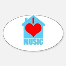 I Love House Music - House silhoutte Decal