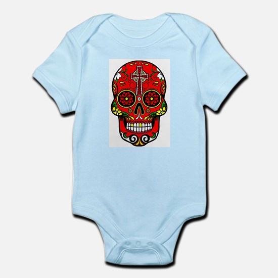 red sugar skull Body Suit
