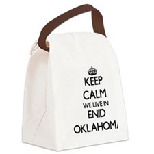 Keep calm we live in Enid Oklahom Canvas Lunch Bag