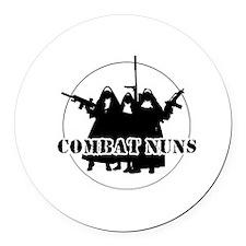 Combat Nuns Round Car Magnet