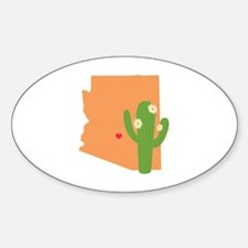 Arizona State Map Decal