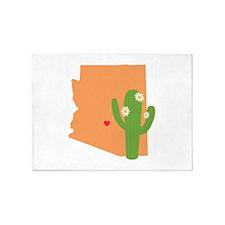 Arizona State Map 5'x7'Area Rug