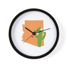 Arizona State Map Wall Clock