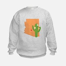 Arizona State Map Sweatshirt