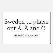 Å, Ä and Ö Postcards (Package of 8)