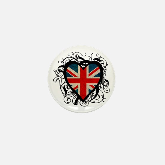 Heart England Mini Button