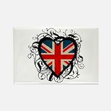 Heart England Rectangle Magnet