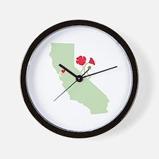California State Map Wall Clock