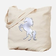 Silver Stallion Tote Bag