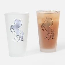 Silver Stallion Drinking Glass