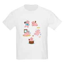Five little pigs T-Shirt