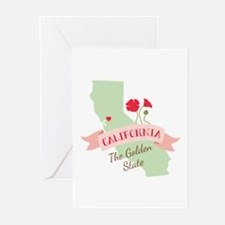 California Golden State Greeting Cards