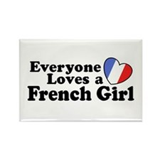 Everyone Loves a French Girl Rectangle Magnet