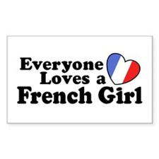 Everyone Loves a French Girl Rectangle Decal