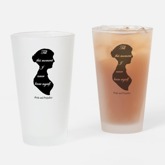 Pride and Prejudice I never knew my Drinking Glass