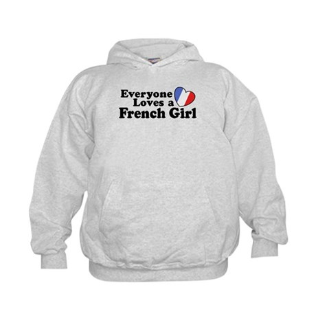 Everyone Loves a French Girl Kids Hoodie