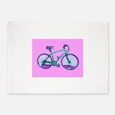 Pink Bicycle Cycling Wondrous Velo 5'x7'Area Rug