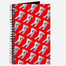 Red Maltese Cutie Fluffy 47 Repetition Dog Journal