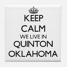 Keep calm we live in Quinton Oklahoma Tile Coaster