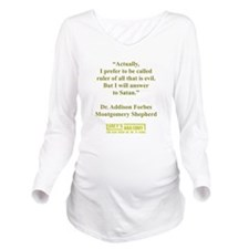 ACTUALLY... Long Sleeve Maternity T-Shirt