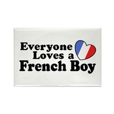 Everyone Loves a French Boy Rectangle Magnet