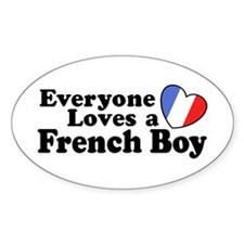 Everyone Loves a French Boy Oval Decal