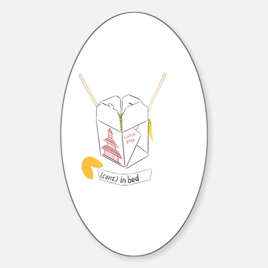 """Chinese Takeout - Fortune Cookie """"( Sticker (Oval)"""