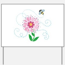 BEE AND FLOWER Yard Sign