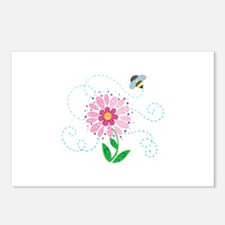 BEE AND FLOWER Postcards (Package of 8)
