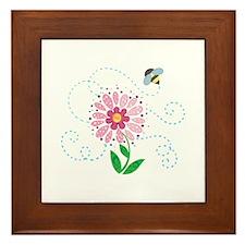 BEE AND FLOWER Framed Tile