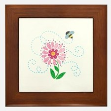 BEE AND FLOWER Framed Tile