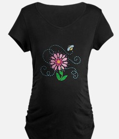 BEE AND FLOWER Maternity T-Shirt