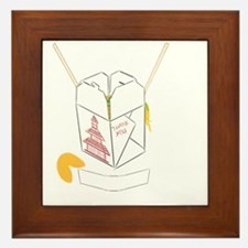 Customizable Fortune Cookie - Chinese  Framed Tile