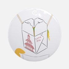 Customizable Fortune Cookie - Chi Ornament (Round)
