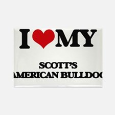 I love my Scott'S American Bulldog Magnets