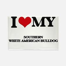 I love my Southern White American Bulldog Magnets