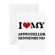 I love my Appenzeller Sennenhund Greeting Cards