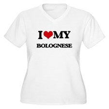 I love my Bolognese Plus Size T-Shirt