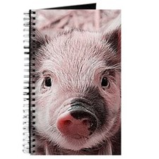 sweet piglet, pink Journal