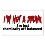 Chemically Off Balanced Rectangle Sticker