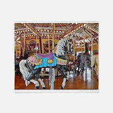 """CAROUSEL HORSE 4"" Throw Blanket"