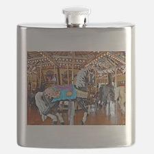 """CAROUSEL HORSE 4"" Flask"