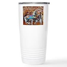 """""""CAROUSEL HORSE 4"""" Travel Mug"""