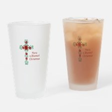 HAVE A BLESSED CHRISTMAS Drinking Glass